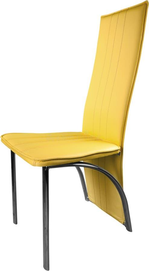 Chaise jaune moderne d'isolement sur le blanc image libre de droits