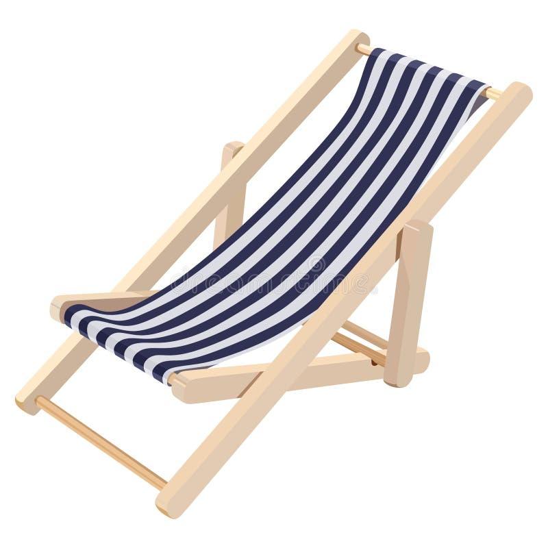 Chaise longue di legno royalty illustrazione gratis