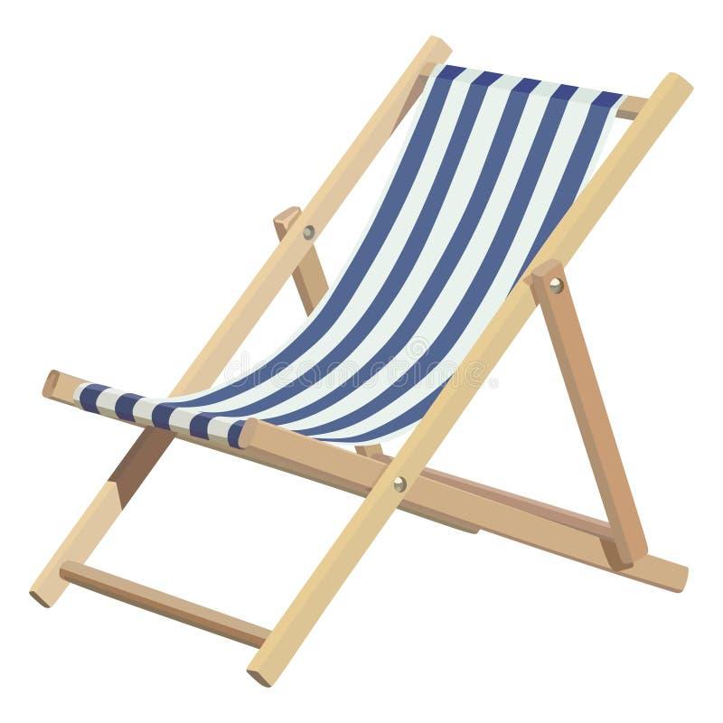 Chaise longue di legno illustrazione di stock