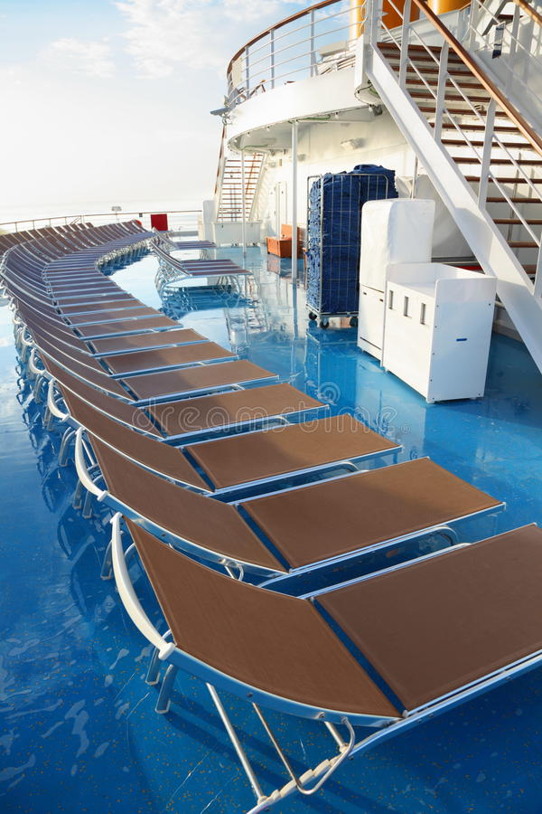 Download Chaise Longues On Deck Of Cruise Ship Stock Photo - Image: 17515090