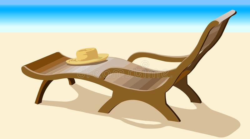 Chaise lounge stock illustration