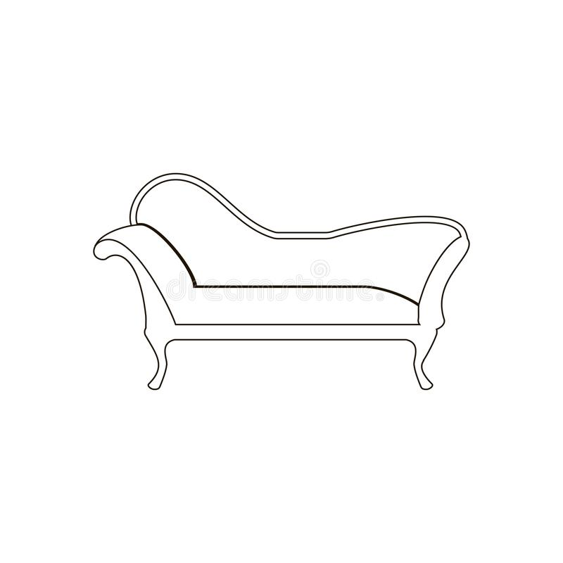 Chaise lounge armchair seat royalty free illustration