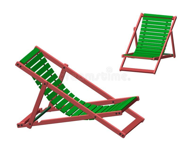 Chaise Lounge bakgrund isolerad white illustra för vektor 3d vektor illustrationer