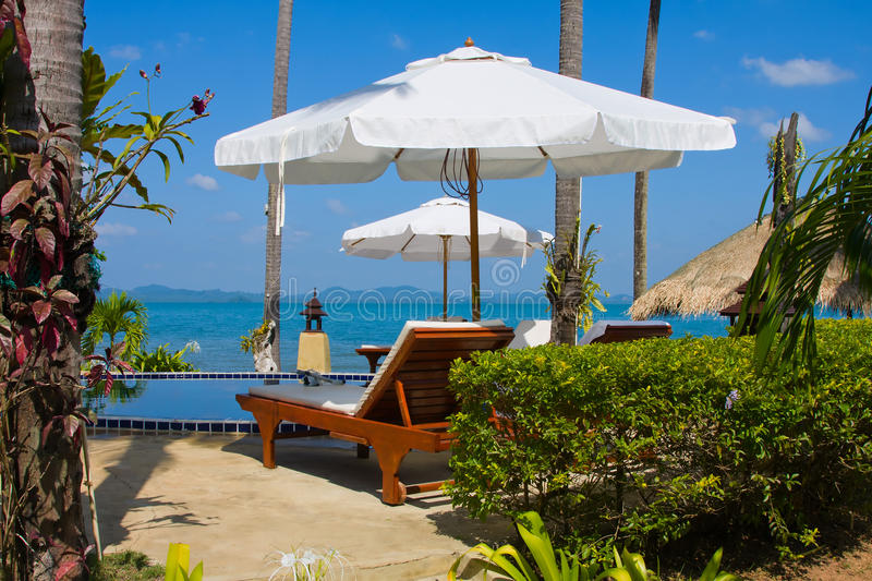 Download Chaise lounge by the pool stock photo. Image of ocean - 25159938