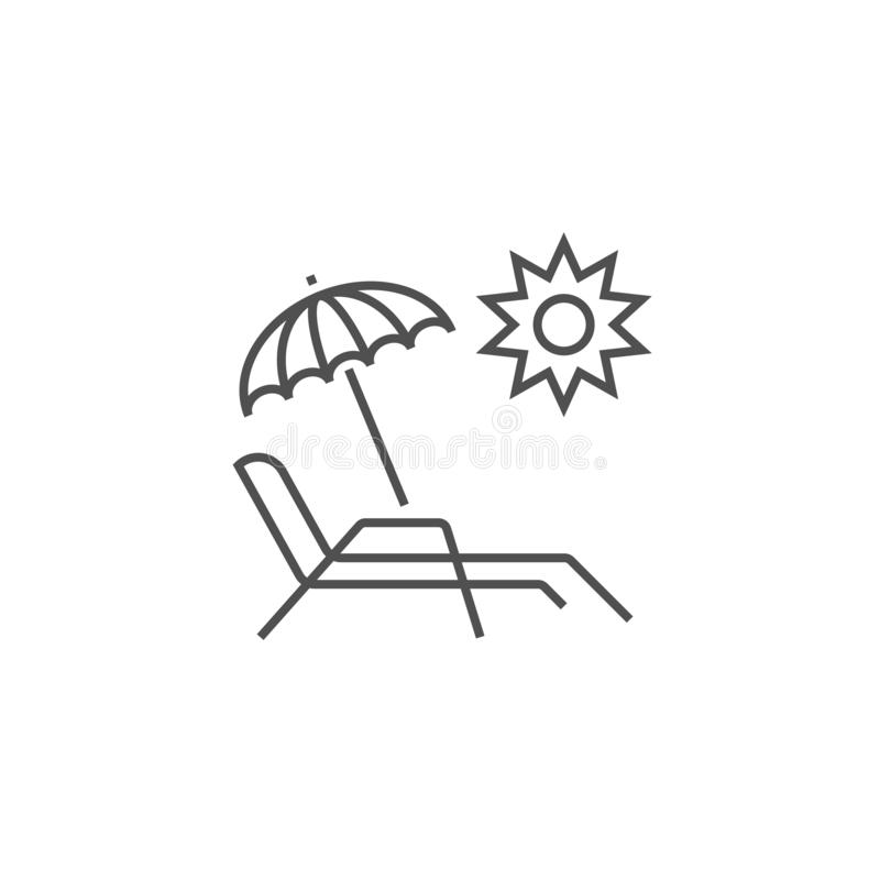 Chaise Lounge Related Vector Line symbol stock illustrationer