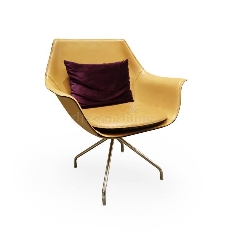 Download Chaise Moderne En Métal Sur Le Fond Blanc Photo stock - Image du confortable, meubles: 76087844