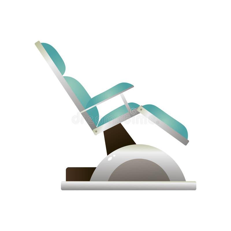 Chaise molle de stomatologie moderne de règlement en cuir naturel illustration stock