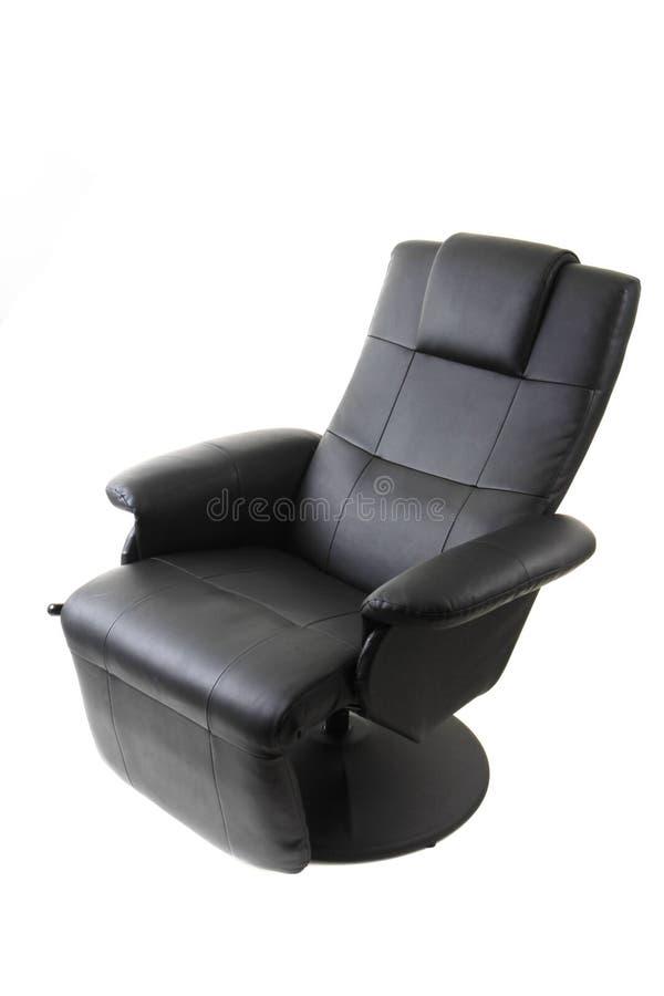 chaise noire de relaxation photographie stock