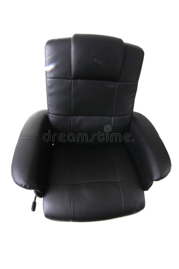 chaise noire de relaxation photos libres de droits