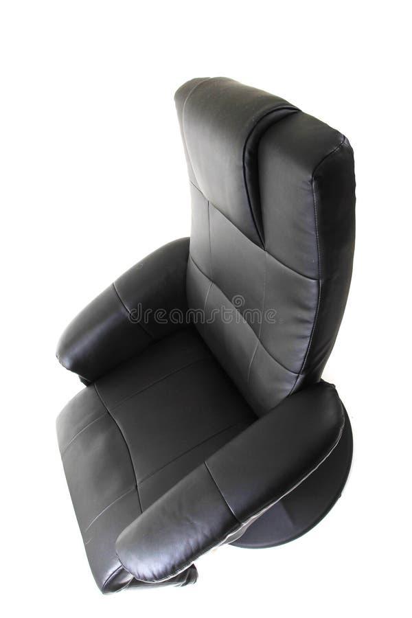 chaise noire de relaxation images libres de droits
