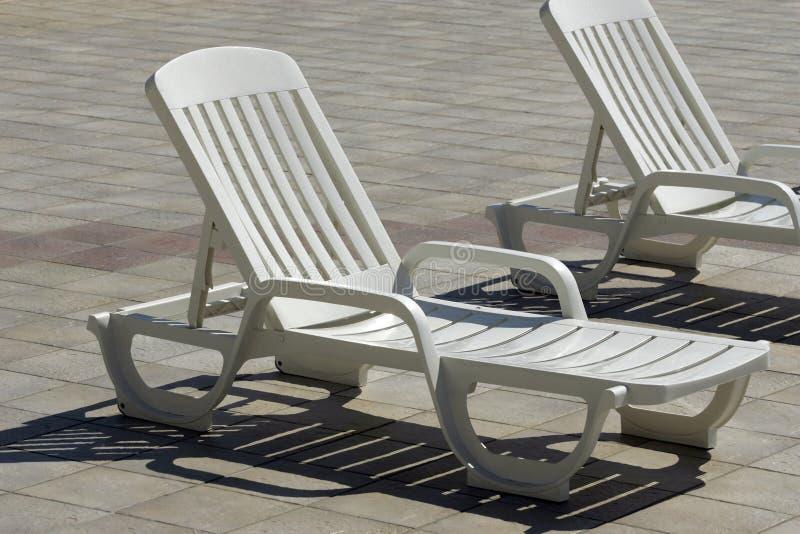 Chaise plástico foto de stock
