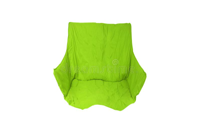 Chaise pliante verte d'isolement photographie stock