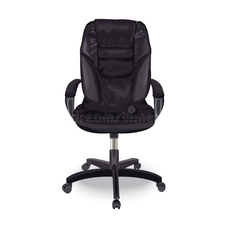 Chaise pour le bureau Fauteuil royal en cuir Engagement d'un employé Place vide illustration libre de droits