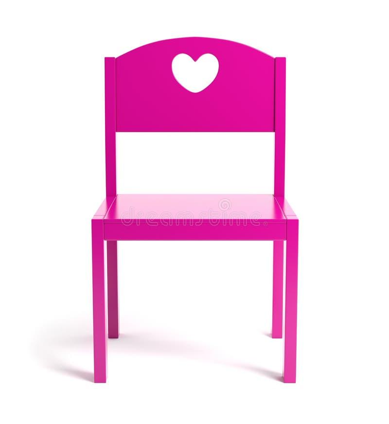 Chaise rose d'enfants illustration de vecteur