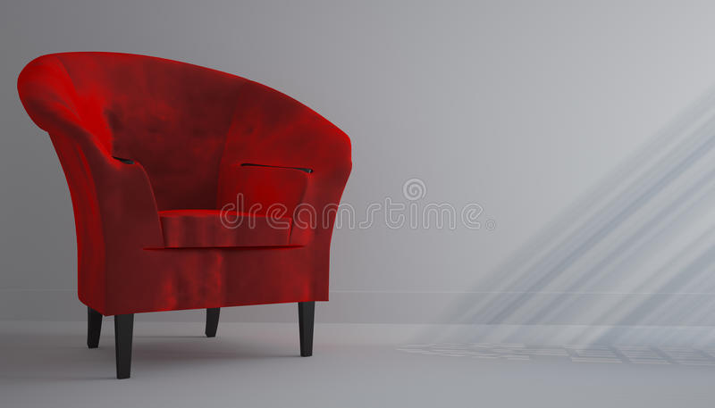 Chaise rouge illustration stock