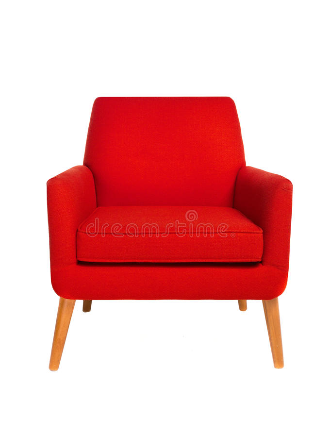 Chaise rouge photos stock