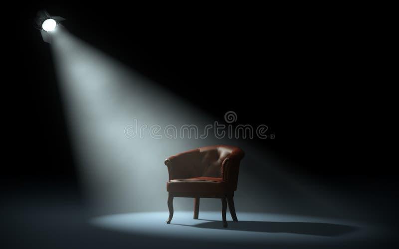 Chaise sur l'étape illustration stock