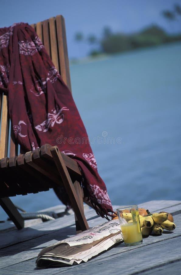 Chaise vide, Tobago photo libre de droits