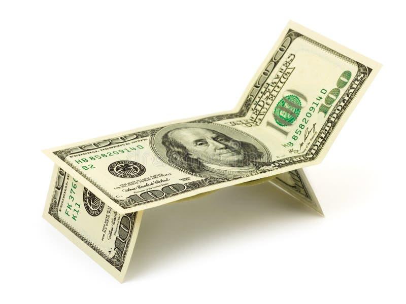 chaiselongue gjorde pengar royaltyfri bild
