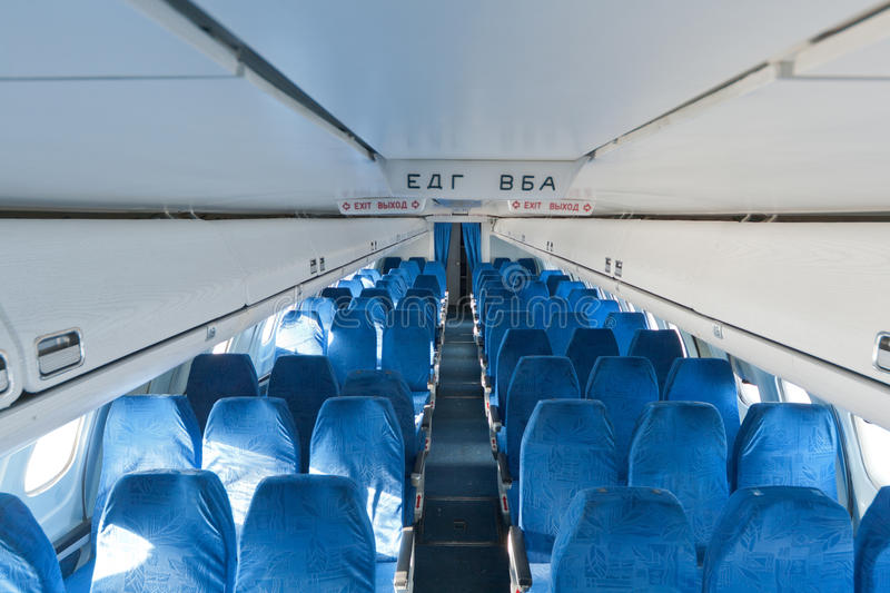 Chaises dans l'avion photo stock