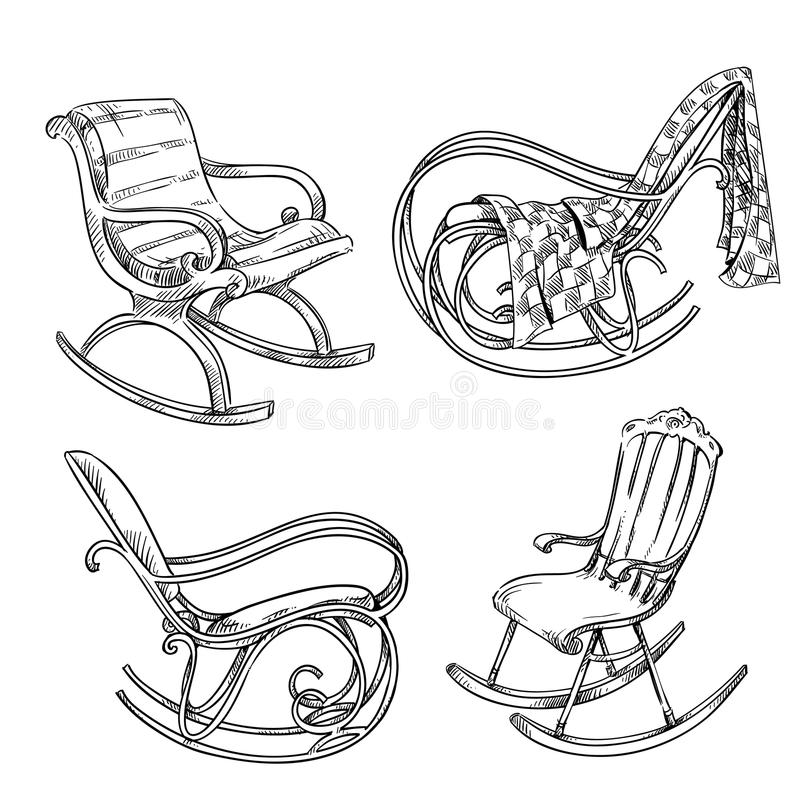 Chaises de basculage illustration de vecteur