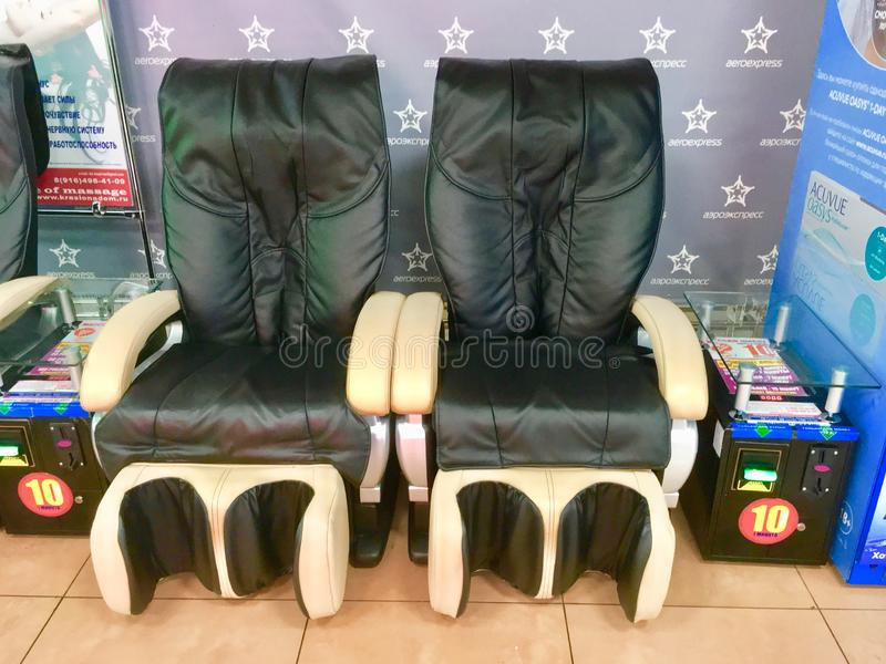 Chaises de massage photos stock
