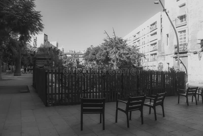 Chaises dedans Le jardin images stock