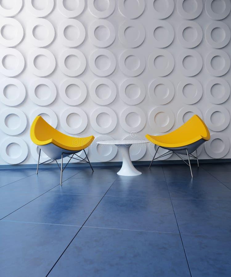 Chaises et Tableau jaunes dans la chambre stylisée photo libre de droits