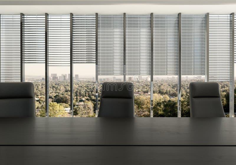 Chaises vides au bureau dans le bureau illustration libre de droits