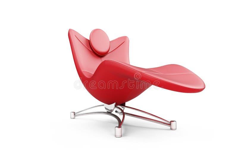 chaisevardagsrum över röd white royaltyfri illustrationer
