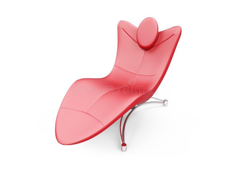 chaisevardagsrum över röd white vektor illustrationer