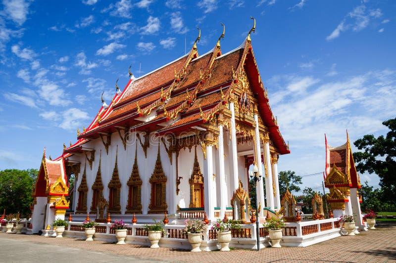 Chaitharam寺庙, Wat查龙,普吉岛,泰国 免版税库存照片
