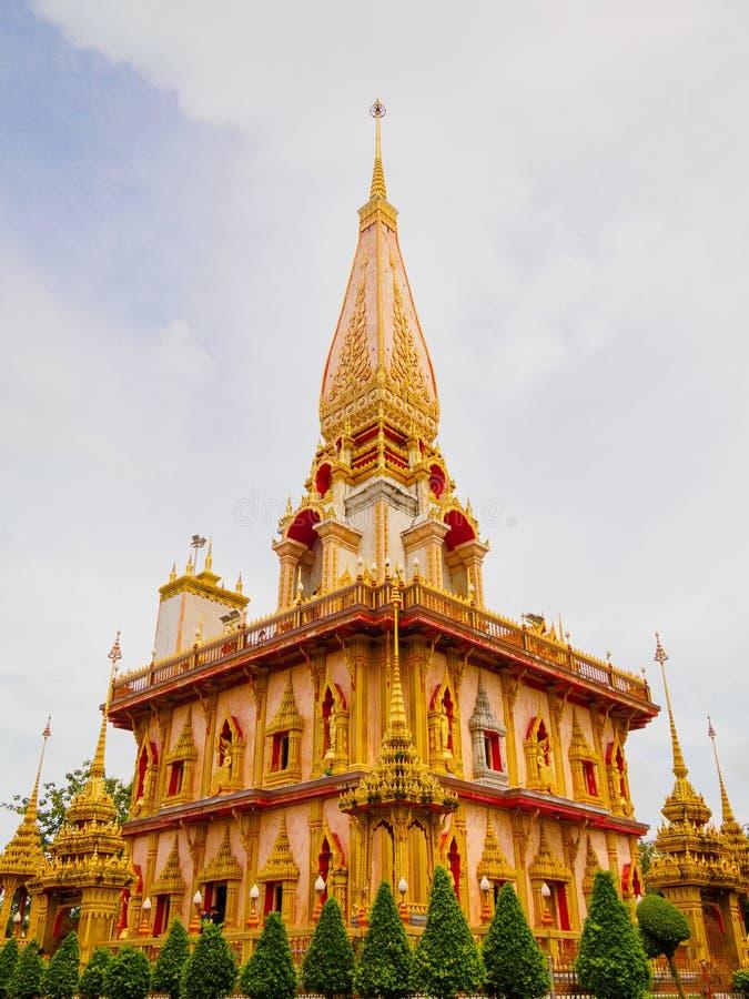 Chaithararam Świątynny Wat Chalong przy Phuket Tajlandia zdjęcie stock