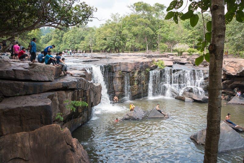 Chaiyaphum, Thaïlande - 5 mai 2016 : Cascade de Tatton dans Tatton photos libres de droits