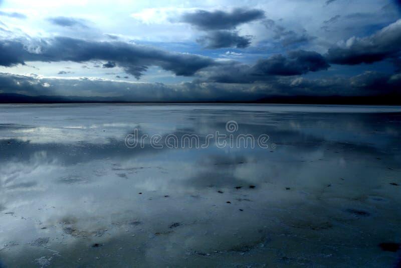 Chaka盐湖风景  库存照片