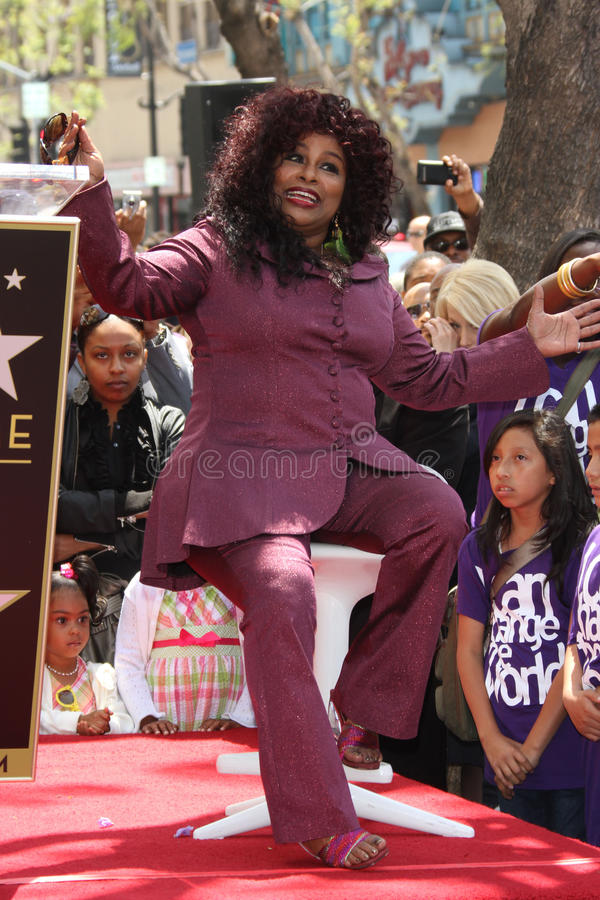 Chaka Khan. At  Honored With A Star On The Hollywood Walk of Fame, Hollywood, CA. 05-19-11 royalty free stock images
