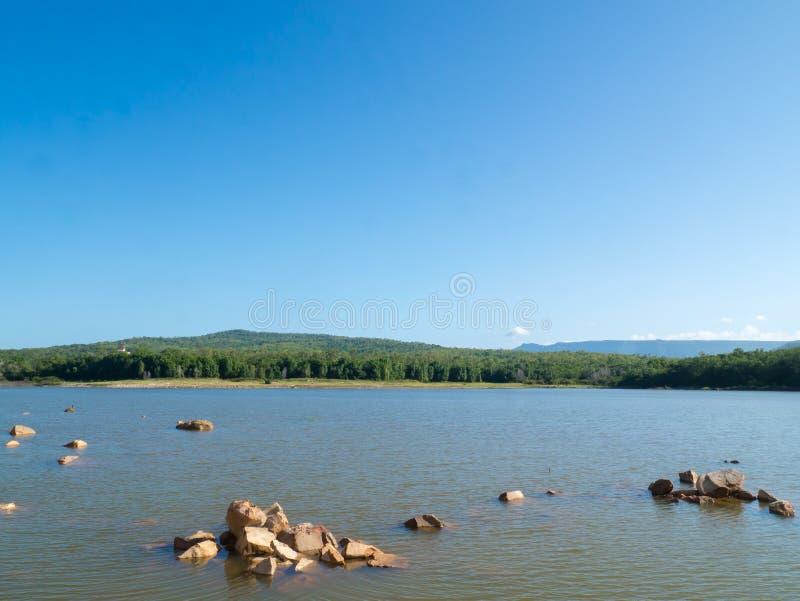Chakkapong reservoir. Khao ito mountain, Prachin Buri, Thailand. Landscape the river, Chakkapong reservoir. Khao ito mountain, Prachin Buri, Thailand royalty free stock image
