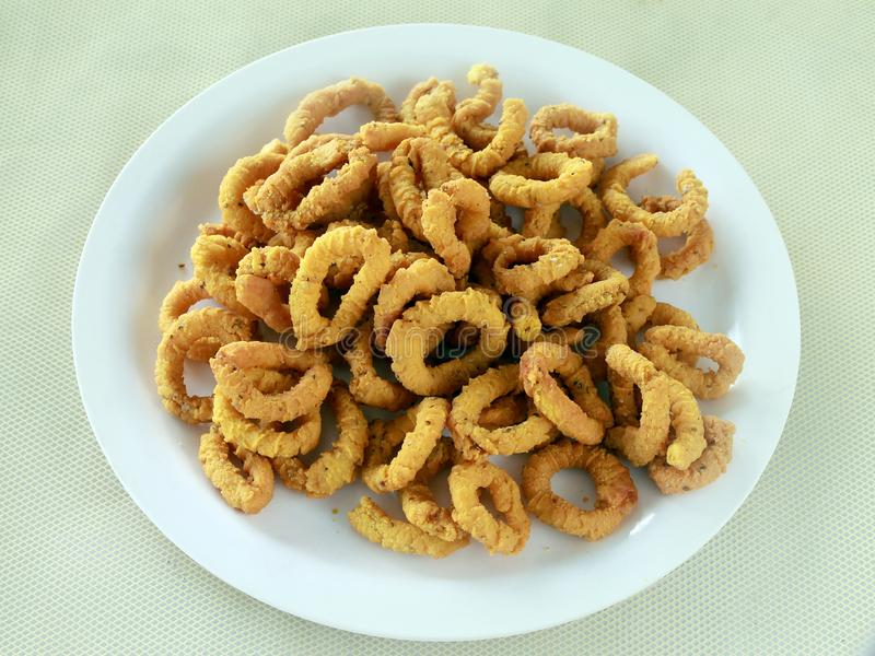Chakodi ou Chakli saboroso indiano imagens de stock