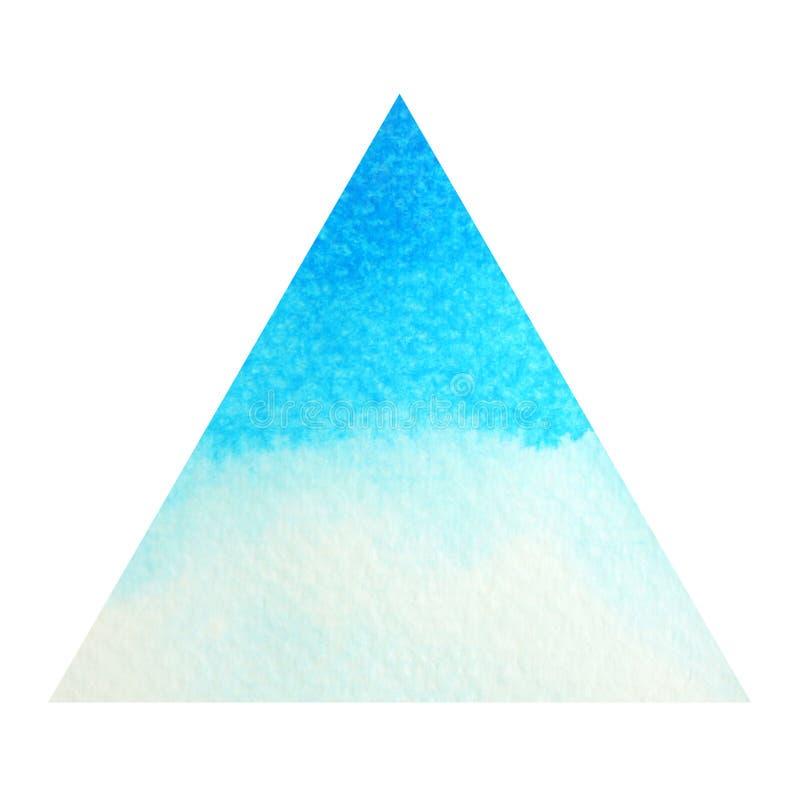 chakra标志喉头概念,水彩绘画的蓝色颜色 向量例证