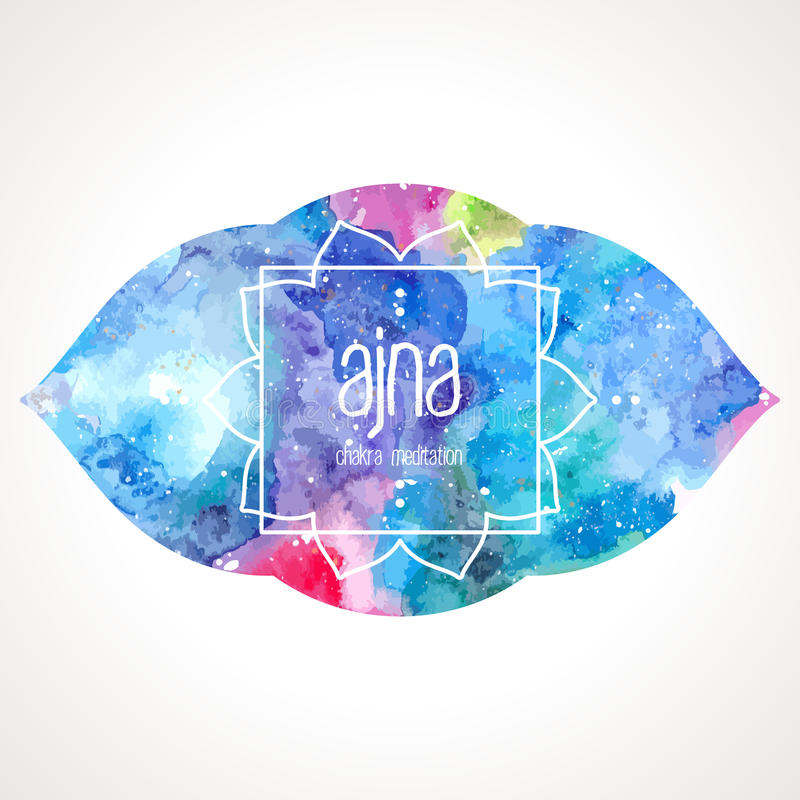 Chakra Ajna frame vector stock illustration