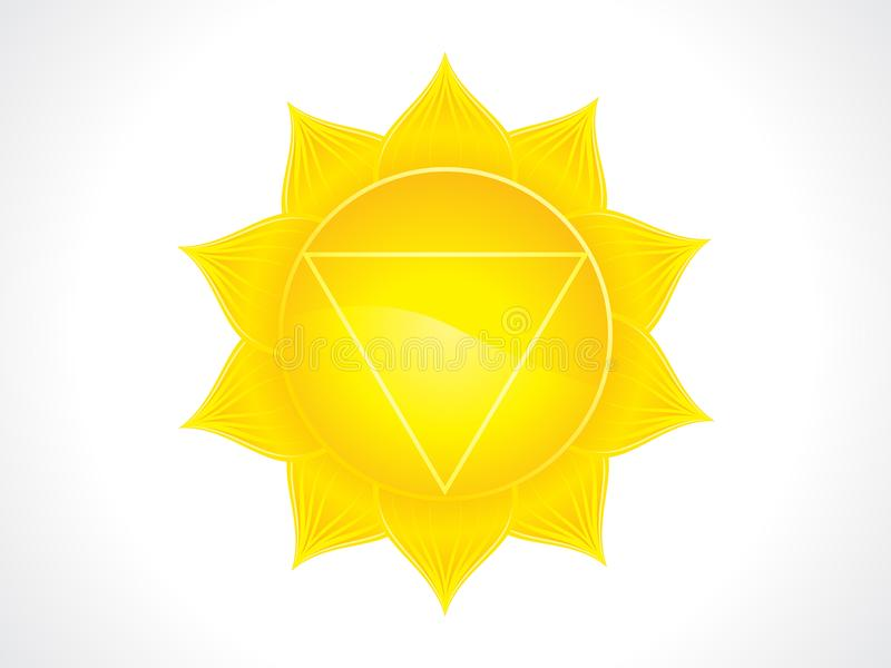 Chakra amarillo artístico abstracto del plexo solar libre illustration
