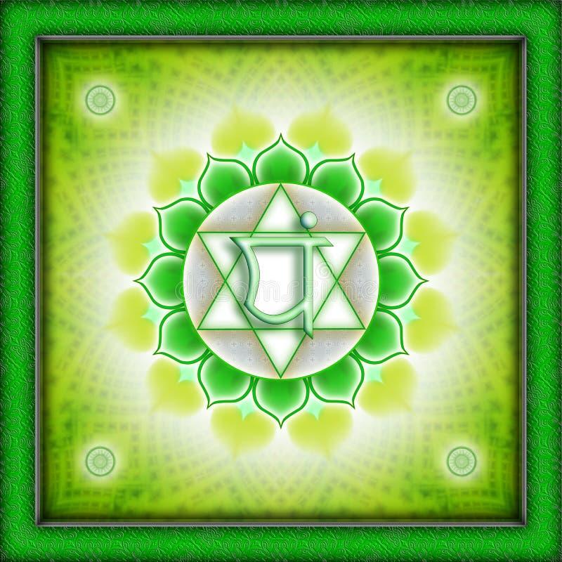 Chakra Anahata. It is an illustration of a Chakra royalty free illustration