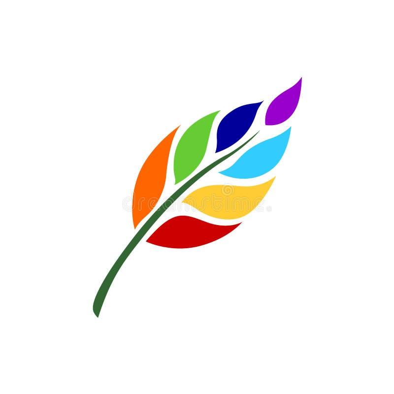 7 chakra color icon symbol logo sign, flower floral, vector royalty free illustration