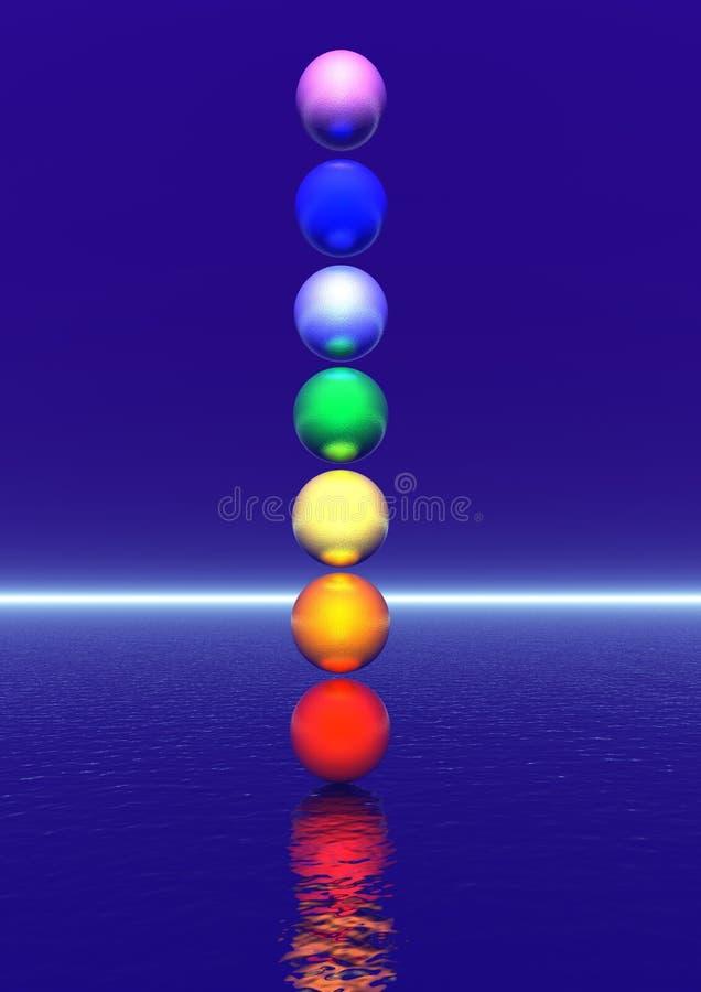 Chakra column stock illustration
