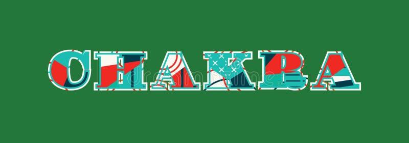 Chakra Concept Word Art Illustration stock illustration