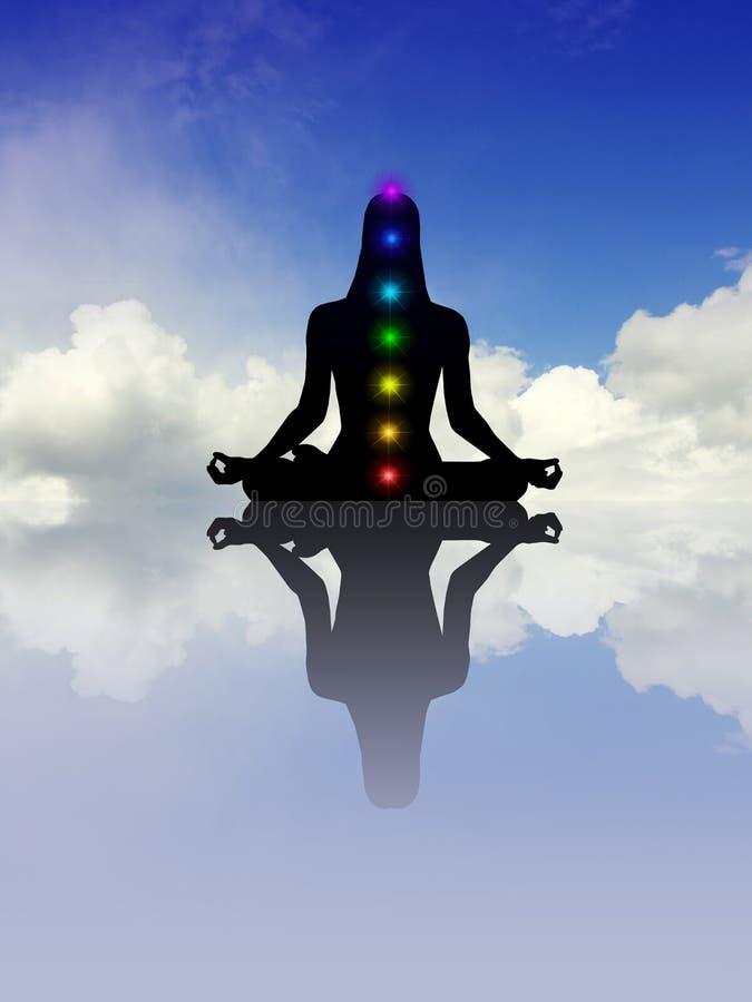 Chakra de méditation illustration de vecteur
