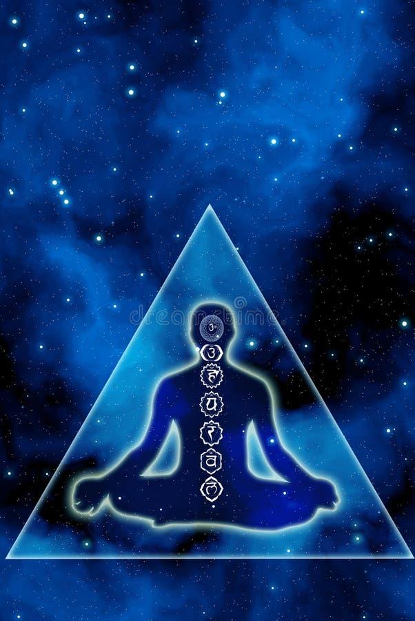 Chakra e meditação ilustração royalty free
