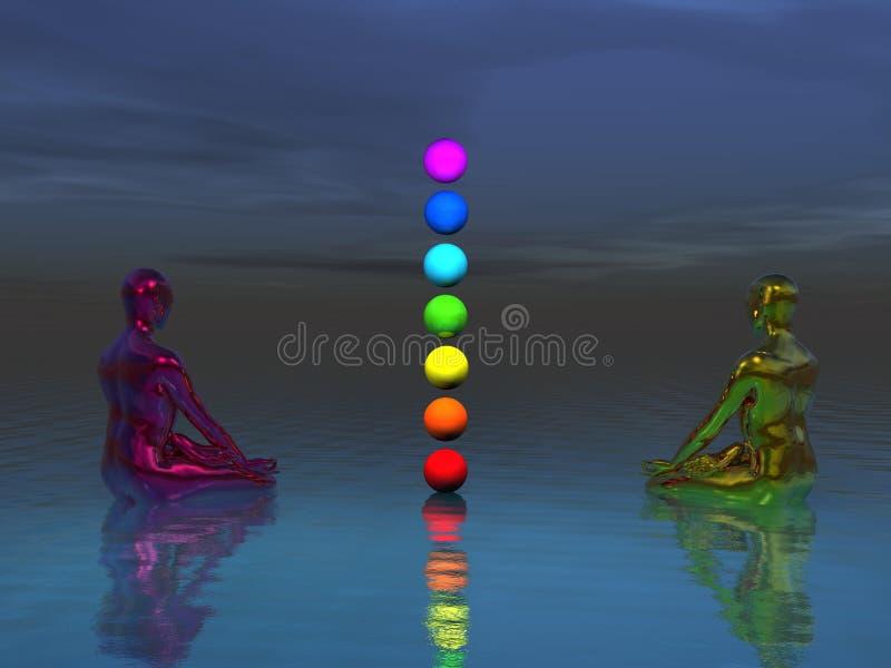 Chakra et Bouddha illustration de vecteur