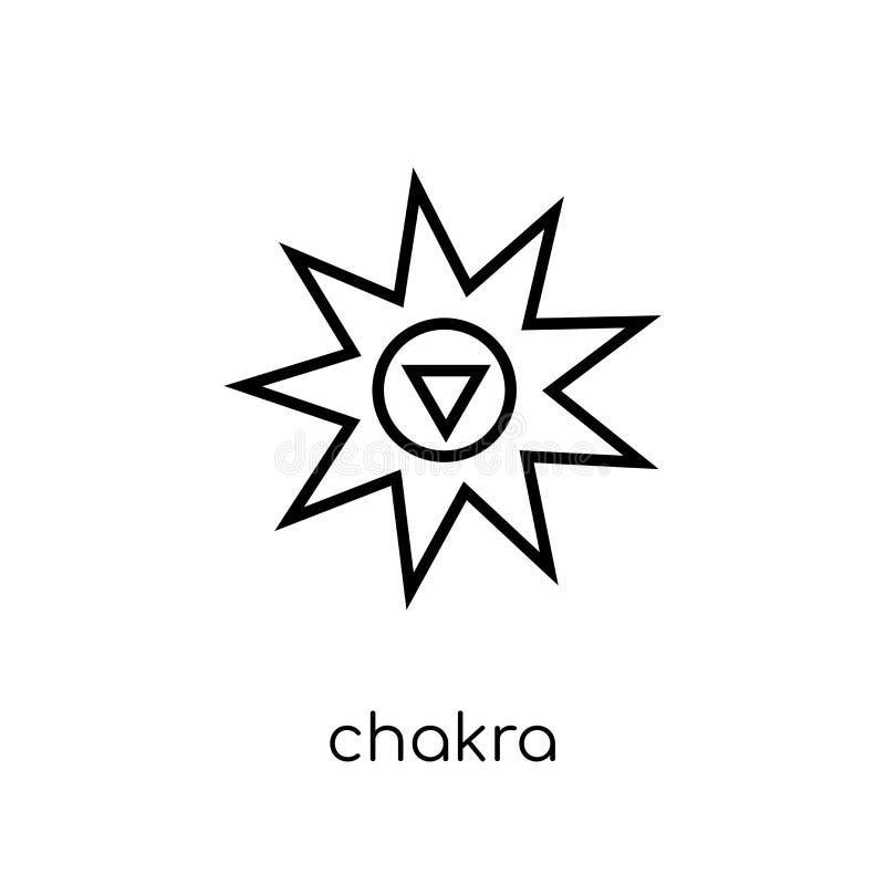 chakra ikona Modna nowożytna płaska liniowa wektorowa Chakra ikona na whi royalty ilustracja
