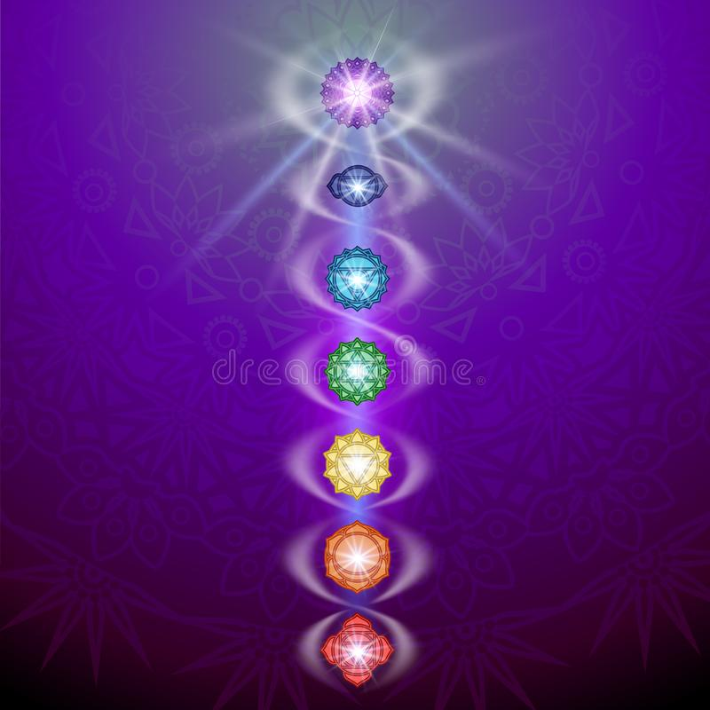 Chakra and Kundalin vector illustration